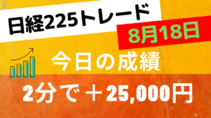 Read more about the article あさイチスキャルライブ+25000円
