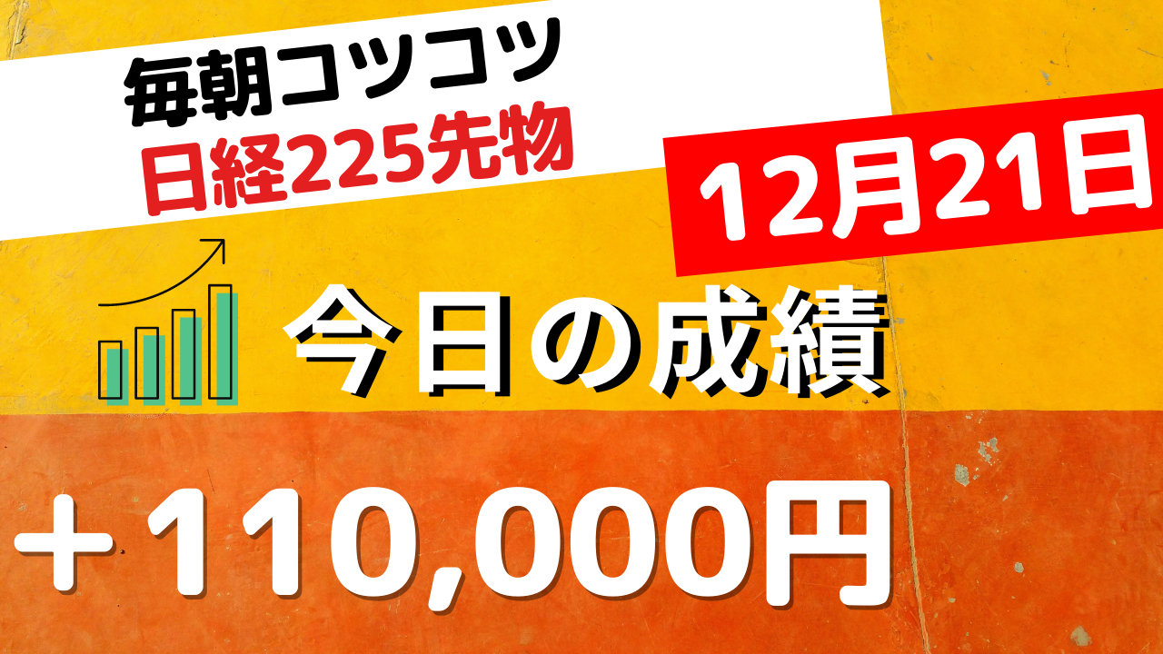 日経225先物トレードライブ 12月21日