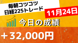 Read more about the article 日経225先物トレードライブ 11月24日